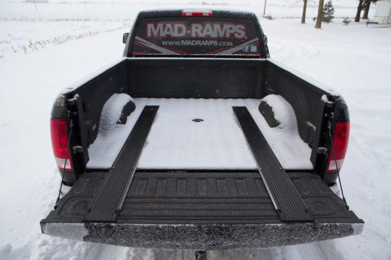 Mad-Ramps bed protectors in truck